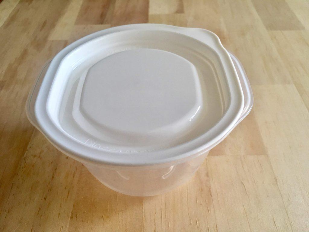 イオンの冷凍ご飯タッパーHOME COORDY そのままレンジ保存容器ご飯一膳用の見た目